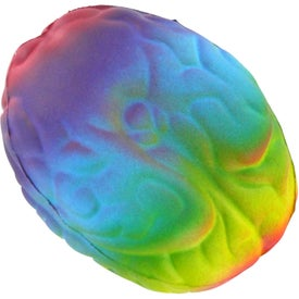 Rainbow Brain Stress Ball with Your Slogan