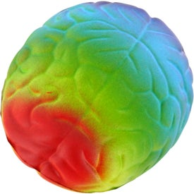 Imprinted Rainbow Brain Stress Ball