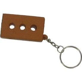 Imprinted Brick Key Chain Stress Ball
