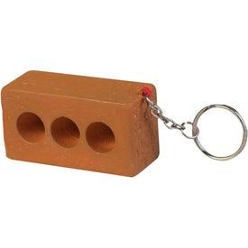 Brick Key Chain Stress Ball