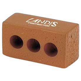 "Brick with Holes Stress Ball (3.625"" x 2"" x 1.375"")"
