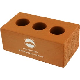 Brick with Holes Stress Ball Imprinted with Your Logo