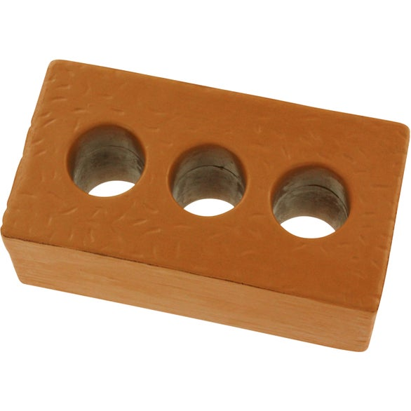 Brown Brick with Holes Stress Ball