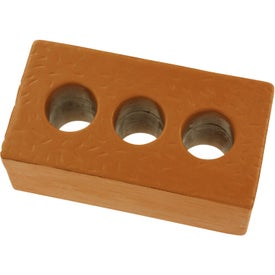 "Brick with Holes Stress Ball (3.875"" x 2.125"" x 1.5"")"