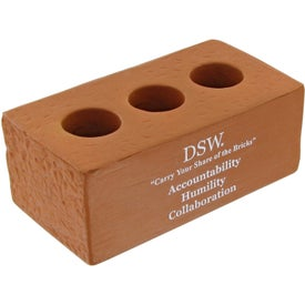 Customized Brick With Holes Stress Toy