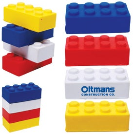 "Building Block Stress Ball (3.125"" x 1"" x 1.5"")"