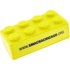 Monogrammed Building Block Stress Toy