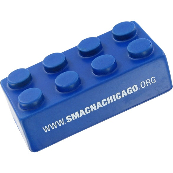 Blue Building Block Stress Toy