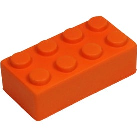 Building Block Stress Toy Printed with Your Logo