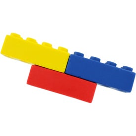 "Building Block Stress Ball (3.125"" x 1.5"" x 4"")"