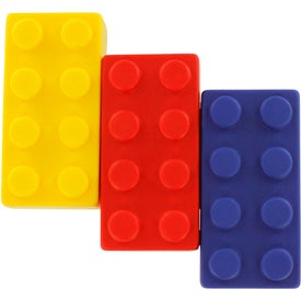 Building Block Stress Ball 4 Piece Set Printed with Your Logo
