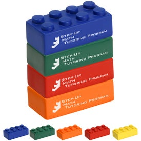 Building Block Stress Ball 4 Piece Set with Your Slogan