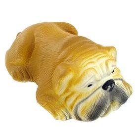 Monogrammed Bull Dog Stress Toy