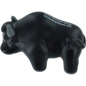 Customized Wall Street Bull Stress Ball