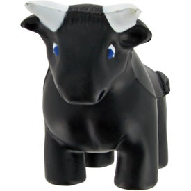 Imprinted Bull Stress Toy