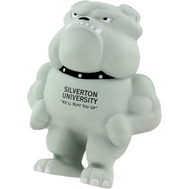 Printed Bulldog Mascot Stress Ball
