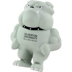 Printed Bulldog Mascot Stress Ball