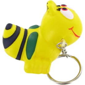 Bumble Bee Keychain Stress Toy with Your Slogan