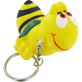 Advertising Bumble Bee Keychain Stress Toy