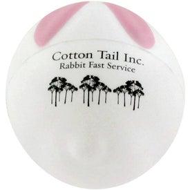 Advertising Bunny Rabbit Ball Stress Ball