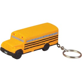 School Bus Stress Reliever Key Chain Printed with Your Logo