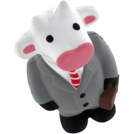 Business Cow Stress Reliever with Your Slogan