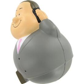 Businessman Bert Wobbler Stress Reliever for Promotion