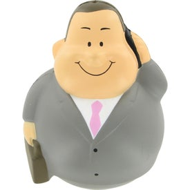 Businessman Bert Wobbler Stress Reliever with Your Logo