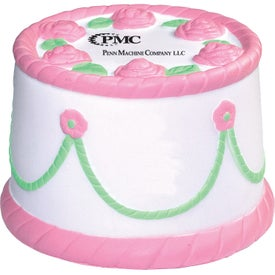Cake Stress Reliever with Your Slogan