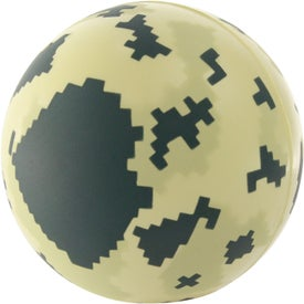Personalized Digital Camo Ball Stress Reliever