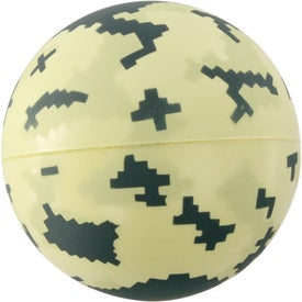 Digital Camo Ball Stress Reliever Printed with Your Logo
