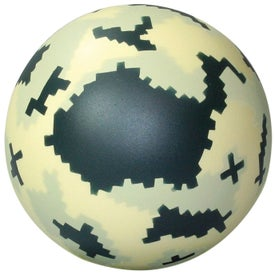 Logo Digital Camo Ball Stress Reliever