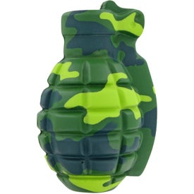 Promotional Camouflage Grenade Stress Toy