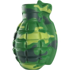 Camouflage Grenade Stress Toy