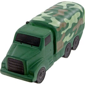 Camouflage Military Truck Stress Toy Imprinted with Your Logo