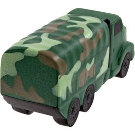 Camouflage Military Truck Stress Toy Branded with Your Logo