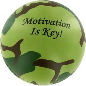 Logo Camouflage Stress Ball