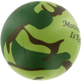 Camouflage Stress Ball for Marketing