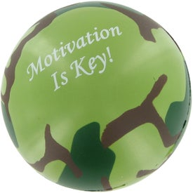 Camouflage Stress Ball with Your Logo