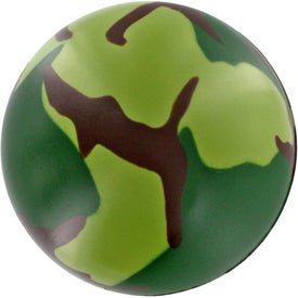 Imprinted Camouflage Stress Ball