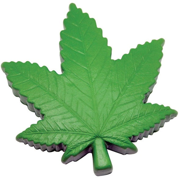 Green Cannabis Leaf Stress Reliever