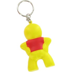 Captain Smiley Key Chain Stress Ball for Marketing