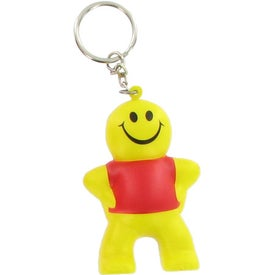 Promotional Captain Smiley Key Chain Stress Ball