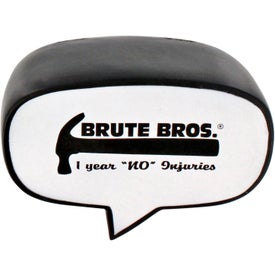 Advertising Caption Bubble Stress Ball