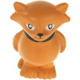 Imprinted Cartoon Cat Stress Ball