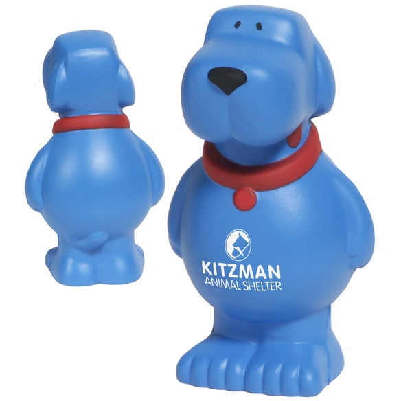 Blue Cartoon Dog Stress Ball