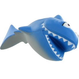 Imprinted Cartoon Shark Stress Ball