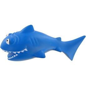 Printed Cartoon Shark Stress Toy