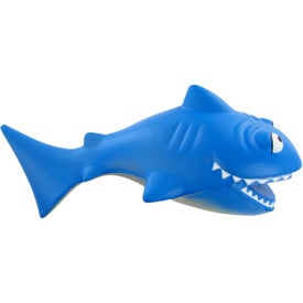 Monogrammed Cartoon Shark Stress Toy