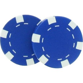 Casino Chip Stress Reliever with Your Slogan